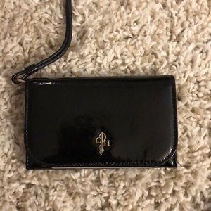 Cole Haan Black Patten Leather Wristlet